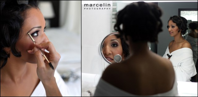 bride getting ready at the palms hotel miami beach