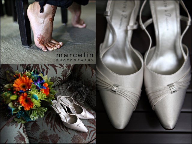 bridal shoes at the palms hotel