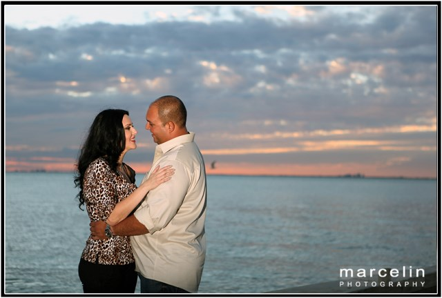 sunset at bill baggs florida state park - giselle ray engagement session